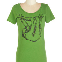 ModCloth Quirky Mid-length Short Sleeves Just Hanging Out Tee