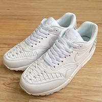 Trendsetter Nike Air Max 1 Woven  Women Men Fashion Casual Sneakers Sport Shoes