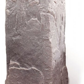 "Fake Rock Artificial Stone Telephone Pedestal Cover (Riverbed) (34""H x 17""W x 18""D)"
