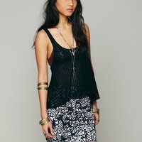 Free People Neo Tribal High Waist Scrunch Skirt