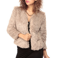 Cocoa Faux Fur Coat
