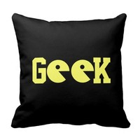 Old-School Geek Reversible Pillow