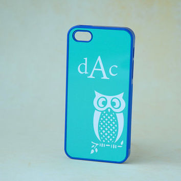Personalized Monogrammed Phone Case iPhone 4, 4s, 5, 5s, 5c, 6, 6s, 6 Plus, 6s Plus Case, Galaxy S3, S4, S5, S6 Case, Cute Owl Phone Case