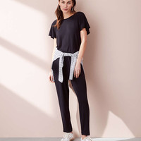 Lou & Grey Signaturesoft Flutter Sleeve Jumpsuit | Lou & Grey