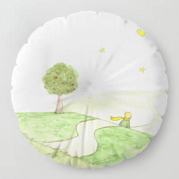 The little Prince and the Fox Floor Pillow by Savousepate
