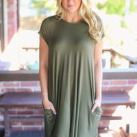 Weekend Wonder Dress - Olive