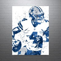 Dak Prescott Dallas Cowboys Poster