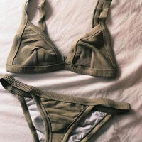 Green Triangle Bikini B007835