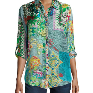Brightwood Printed Blouse, Petite, Size: