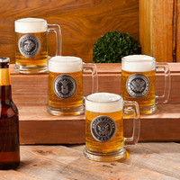 Custom Personalized Military Emblem Beer Stein - Army, Navy, Air Force, Marines -Great Christmas or Groomsmen Gift