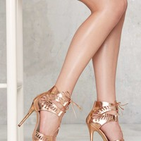 Lipstik Shoes Kara Cutout Heel - Rose Gold