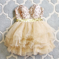 Spool Couture Golden Sparkle Dress