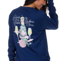 Lauren James Long Sleeve Tee- Raise a Glass- FINAL SALE