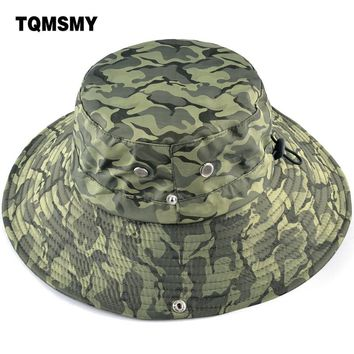 TQMSMY Tactical Airsoft Sniper Camouflage Boonie Hats Nepalese Cap Militares Army Mens Bucket Hat Hiking Sun Hats for men TMP23