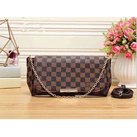 Louis Vuitton Women Shopping Leather Satchel Shoulder Bag Handbag Crossbody G