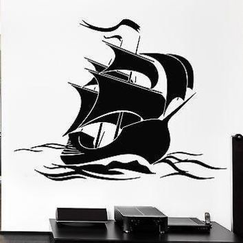 Wall Stickers Vinyl Decal Pirate Ship For Kids Room Nursery Marine (ig1351)