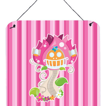 Fairy House Pink Stripes Wall or Door Hanging Prints BB6907DS66