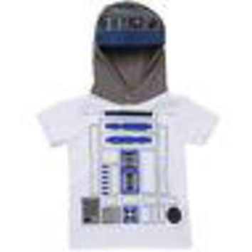 Star Wars I Am R2-D2 Youth Kids Hooded Costume T-Shirt - White