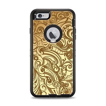 The Vintage Antique Gold Vector Pattern Apple iPhone 6 Plus Otterbox Defender Case Skin Set