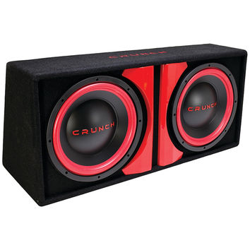 "Crunch Cr-212a Powered Dual-12"" Subwoofer System"