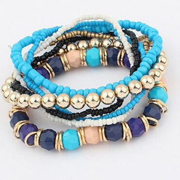 Shiny New Arrival Hot Sale Awesome Great Deal Gift Korean Stylish Mixed-color Stretch Bangle Bracelet [6573076871]