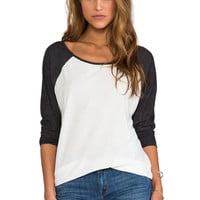 RVCA Label Ziggy Top in Natural/Black from REVOLVEclothing.com