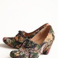 maytal oxford heels in floral by Chelsea Crew at ShopRuche.com