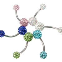 Rhinestone Ball Navel Belly Ring