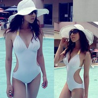 Monokini Halter Backless Swimsuit Set One-piece S M L