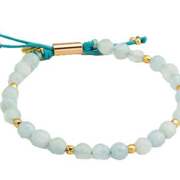 DCCKAB3 Gorjana Aquamarine Truth Power Gemstone Beaded Bracelet
