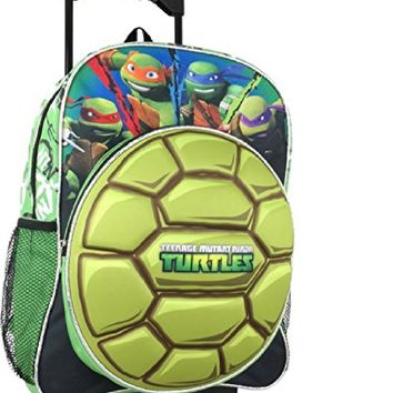 "Teenage Mutant Ninja Turtles 16"" 3D Shell School Rolling Backpack"