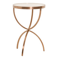 Hilton Accent Table Brushed Rose Gold