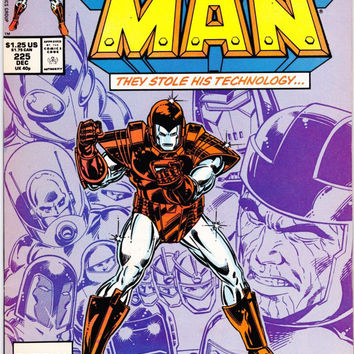 Vintage Iron Man First Series Comic Book #225 December 1987 Marvel Comics