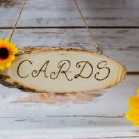 Wedding Cards Sign Banner Wooden Sign Rustic Sunflower wedding Garland Banner