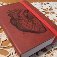 Anatomical Heart Pocket Journal Sketch Book Pad by CrimsonHollow