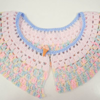 Cute pink Fairy Kei collar with ice cream cone button