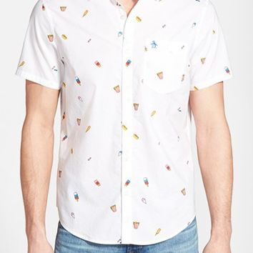Men's Original Penguin 'Carnival Food' Print Short Sleeve Sport Shirt,
