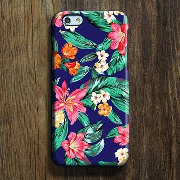 Classy Blue Pink Floral  iPhone 6s Case iPhone 6s Plus Case iPhone 6 Cover iPhone 5S 5 iPhone 5C iPhone 4s 4 Samsung Galaxy Note 5 Case -SW02