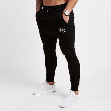 Autumn Winter New Gyms Pants Men Joggers Casual Pants Brand Trousers Sporting Bodybuilding Sweatpants joggers 2Color