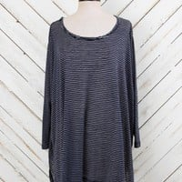 Altar'd State Delicate Stripe Flowy Top in Navy | Altar'd State