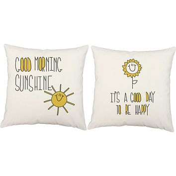 Good Morning Sunshine Throw Pillows