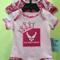 2pc Pink Camo Onesuit Air Force