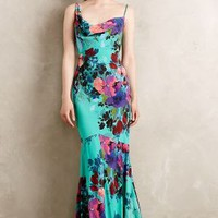 Botanical Gardens Gown by Nicole Miller Turquoise
