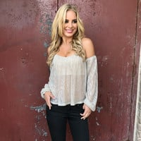 Reflective Love Off Shoulder Blouse
