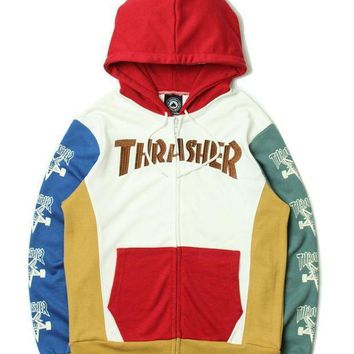 Thrasher Fashion Hoodies Zippers Jacket Coat
