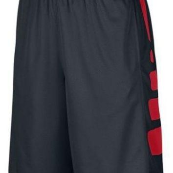 Nike Elite Mens Stripe Dri-FIT Basketball Shorts Black/Red- NWT