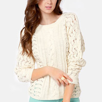 Quiksilver Cozy Coast Cream Sweater