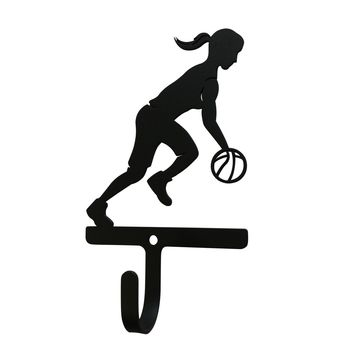 Wrought Iron Basketball Decorative Wall Hook Small