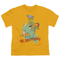 Ed, Edd N Eddy Men's  Free Fall T-shirt Yellow Rockabilia