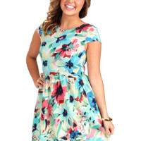 Hey Darling Floral Cap Sleeve Dress | Monday Dress Boutique